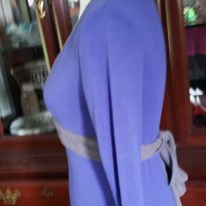 BONGO Dresses - Bongo Blue/Gray Stretch Dress with Back Tie M